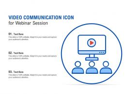 Video Communication Icon For Webinar Session