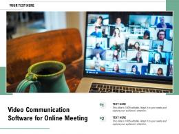 Video Communication Software For Online Meeting