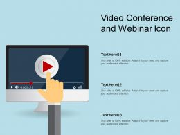 Video Conference And Webinar Icon