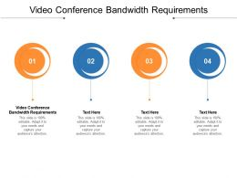 Video Conference Bandwidth Requirements Ppt Powerpoint Presentation Ideas Example Introduction Cpb