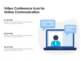 Video Conference Icon For Online Communication