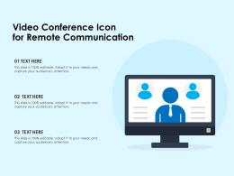 Video Conference Icon For Remote Communication