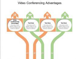 Video Conferencing Advantages Ppt Powerpoint Presentation Portfolio Show Cpb