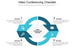 Video Conferencing Checklist Ppt Powerpoint Presentation Layouts Structure Cpb
