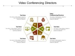 Video Conferencing Directors Ppt Powerpoint Presentation Styles Layouts Cpb