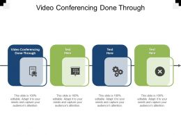 Video Conferencing Done Through Ppt Powerpoint Presentation Portfolio Example Cpb
