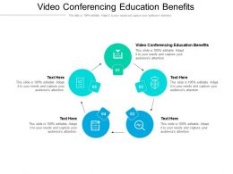 Video Conferencing Education Benefits Ppt Powerpoint Presentation Infographic Template Cpb