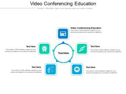 Video Conferencing Education Ppt Powerpoint Presentation Ideas Skills Cpb
