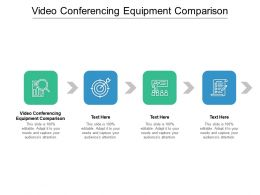 Video Conferencing Equipment Comparison Ppt Powerpoint Presentation Infographic Template Cpb