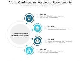 Video Conferencing Hardware Requirements Ppt Powerpoint Presentation Icon Templates Cpb