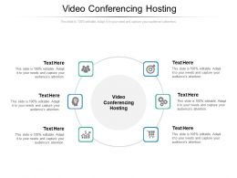 Video Conferencing Hosting Ppt Powerpoint Presentation Pictures Cpb