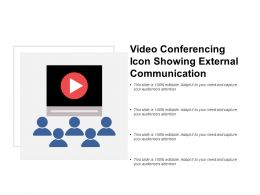 Video Conferencing Icon Showing External Communication