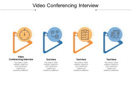 Video Conferencing Interview Ppt Powerpoint Presentation Infographics Mockup Cpb
