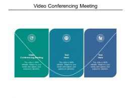Video Conferencing Meeting Ppt Powerpoint Presentation Show Cpb