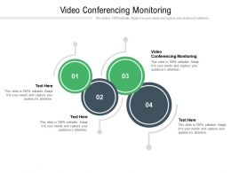 Video Conferencing Monitoring Ppt Powerpoint Presentation Slides Rules Cpb