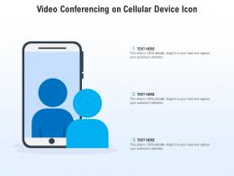 Video Conferencing On Cellular Device Icon