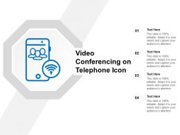 Video Conferencing On Telephone Icon