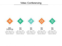 Video Conferencing Ppt Powerpoint Presentation Summary Graphics Cpb