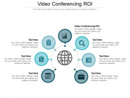 Video Conferencing ROI Ppt Powerpoint Presentation Gallery Guidelines Cpb