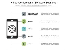 Video Conferencing Software Business Ppt Powerpoint Presentation Inspiration Deck Cpb