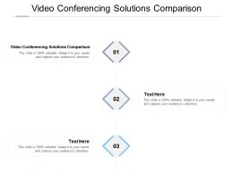 Video Conferencing Solutions Comparison Ppt Powerpoint Presentation File Maker Cpb