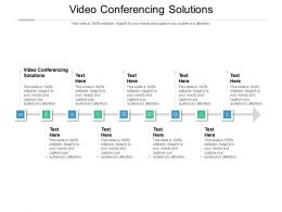 Video Conferencing Solutions Ppt Powerpoint Presentation Outline Grid Cpb