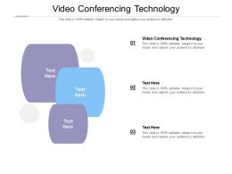 Video Conferencing Technology Ppt Powerpoint Presentation File Graphics Tutorials Cpb