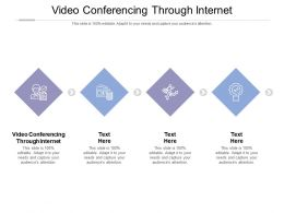 Video Conferencing Through Internet Ppt Powerpoint Presentation Ideas Demonstration Cpb