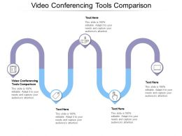 Video Conferencing Tools Comparison Ppt Powerpoint Presentation Summary Graphics Cpb