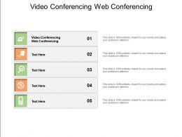 Video Conferencing Web Conferencing Ppt Powerpoint Presentation Layouts Graphics Cpb