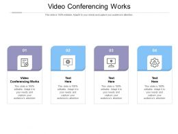 Video Conferencing Works Ppt Powerpoint Presentation Icon Inspiration Cpb