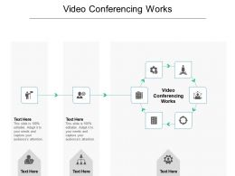 Video Conferencing Works Ppt Powerpoint Presentation Outline Graphics Example Cpb