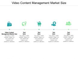 Video Content Management Market Size Ppt Powerpoint Presentation Layouts Samples Cpb