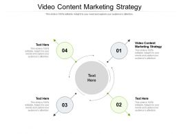 Video Content Marketing Strategy Ppt Powerpoint Pictures Template Cpb