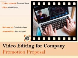 Video Editing For Company Promotion Proposal Powerpoint Presentation Slides