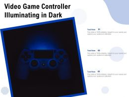 Video Game Controller Illuminating In Dark