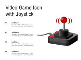 Video Game Icon With Joystick