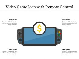Video Game Icon With Remote Control