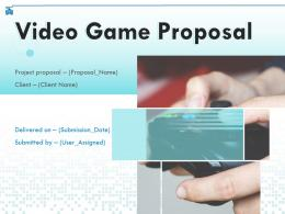 Video Game Proposal Powerpoint Presentation Slides