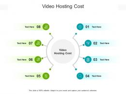 Video Hosting Cost Ppt Powerpoint Presentation Pictures Background Images Cpb