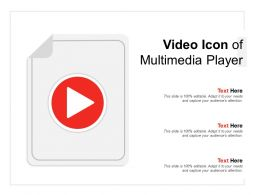Video Icon Of Multimedia Player