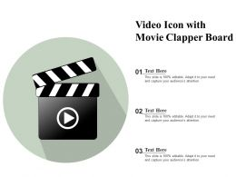 Video Icon With Movie Clapper Board
