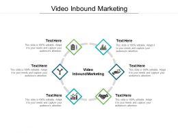 Video Inbound Marketing Ppt Powerpoint Presentation Layouts Display Cpb