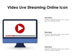 Video Live Streaming Online Icon