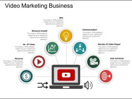 Video Marketing Business Presentation Diagrams