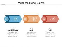 Video Marketing Growth Ppt Powerpoint Presentation Pictures Deck Cpb
