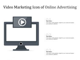 Video Marketing Icon Of Online Advertising
