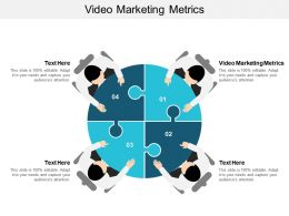 Video Marketing Metrics Ppt Powerpoint Presentation Infographic Template Example Cpb