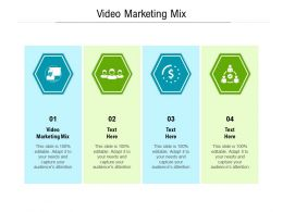 Video Marketing Mix Ppt Powerpoint Presentation Portfolio Ideas Cpb