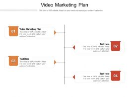 Video Marketing Plan Ppt Powerpoint Presentation Inspiration Layout Ideas Cpb